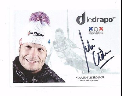 Julien Lizeroux Auto Autographed 4X6 Photo Signed Picture W/Coa France Alpine