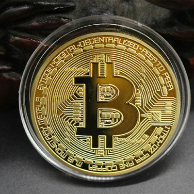 Silver/Gold Plated Bitcoin Coin Collectible BTC Coin Art Collection Physical NEW