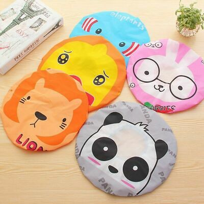 Women Shower Cap Waterproof Elastic Bath Hat Cleaning Hat Cute Kid Adult 1 Pcs