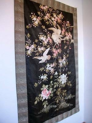 Exquisite Large Oriental Chinese Embroidery Wall Panel