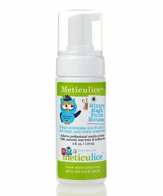Meticulice Head Lice & Nit Foaming Non-Toxic Elimination & Removal Mousse 4oz. ~