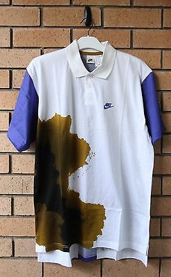New Vintage Nike Challenge Court Men's Polo Shirt Large Andre Agassi Tennis Rare