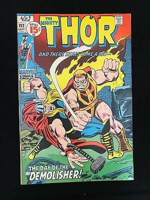 Thor #192 Fn Marvel Comics Bronze Age Mighty Thor!
