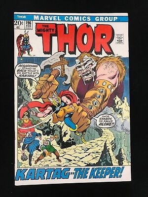 Thor #196 Fn/vf High Grade! Marvel Comics Bronze Age Mighty Thor!