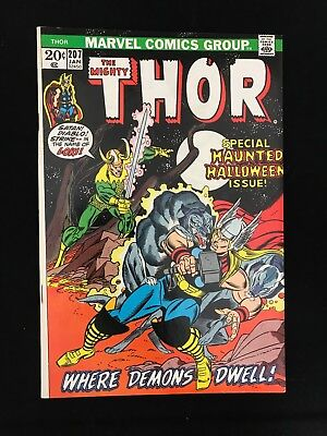 Thor #207 Fn/vf High Grade! Marvel Comics Bronze Age Mighty Thor!