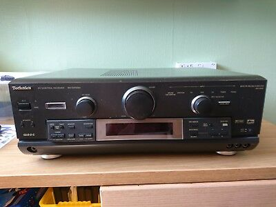 Technics SA-DX1050 AV 5.1 Control Receiver Amp with remote and instructions