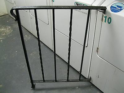 ANTIQUE 1900's WROUGHT IRON HEAVY DUTY STAIR HAND RAILING~BALUSTER~MADE IN USA