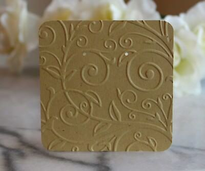 """25 Elegant Swirl Earring Cards - 3""""x3"""" Beautifully Embossed Jewelry Cards - NEW"""
