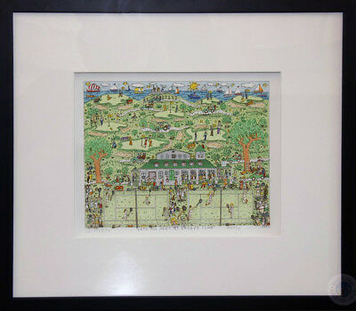 """James Rizzi 3D """"lets All Meet At Daddy's Club"""" 1995 - Xcii / C - Gerahmt"""