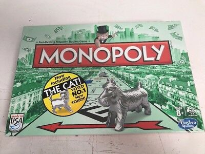 BRAND NEW FACTORY Sealed Monopoly Board Game with NEW Cat Token