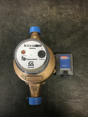 "Badger 1"" M55 GALLON Water Meter Pulse Register And Remote"