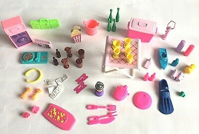 "Barbie Type 12"" Fashion Doll Fun Lifestyle Accessories  50+ Vintage Pieces"
