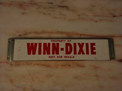 Vintage Winn-Dixie Shopping Cart Metal Sign
