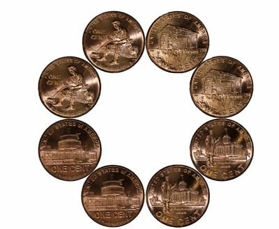 "2009 P & D ""SET""OF 8 Lincoln 1 Cent BICENTENNIAL Pennies from BU Rolls UNC"