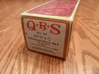 QRS Long-Play Pianola Roll - FATS WALLER MEDLEY NO. 7 - collection of 3 songs