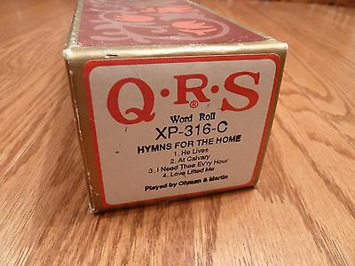 QRS Long-Play Pianola Roll - HYMNS FOR THE HOME - collection of 4 songs