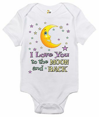 I Love You to the Moon and Back Baby Bodysuit Cute Baby Clothes for Infants