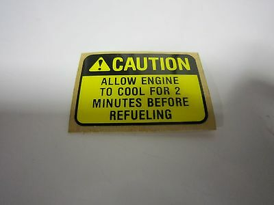 Briggs & Stratton 5-Hp 3-Hp 1981-1986 Gas Tank Caution Decal Vintage Original