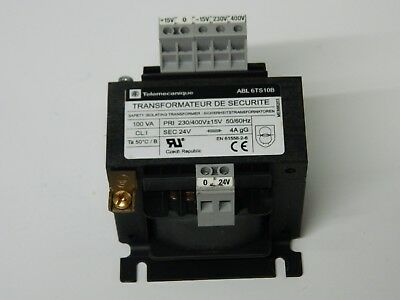 Telemecanique ABL 6TS10B Isolating Transformer 230-400vac sec 24vac 100VA
