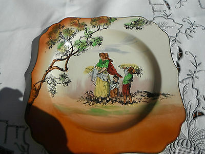1930 Royal Doulton Hand Coloured 'The Gleaners' Plate.