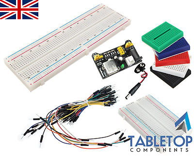 Breadboard Breadboards 830 / 400 / 170 Points / Holes / Positions, Wire Jumpers