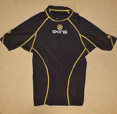 SKINS YL / Youth Large Compression Base Layer Pre Owned Black