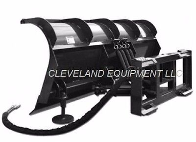 """New 84"""" Hd Roll Top Snow Plow Attachment - Skid Steer Loader / Tractor Blade"""