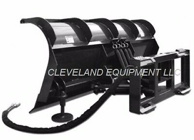 """New 72"""" Hd Roll Top Snow Plow Attachment - Skid Steer Loader / Tractor Blade"""