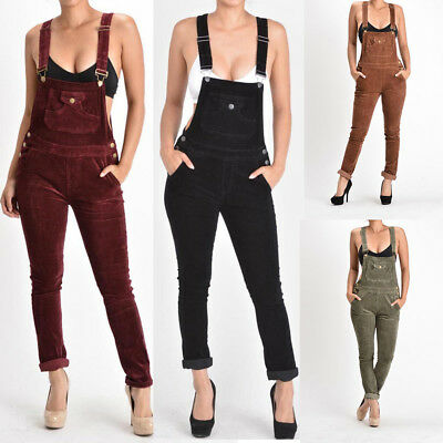 G-Style USA Women's Jumpsuits Corduroy Romper Overalls Pants - RJHO446-S6E