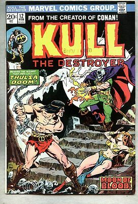 Kull The Conquerer #12-1974 vf- The Destroyer Mike Ploog Steve Ditko Thulsa Doom