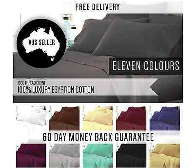 Brand New 1000 Thread Count Egyptian Cotton Sheet Set 11 Colours To Choose From