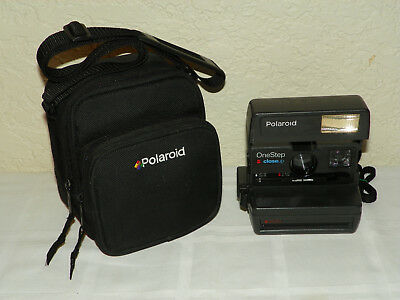 Flash Tested Polaroid One-Step Close-Up 600 Plus Instant Film Camera with CASE!