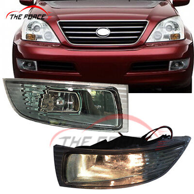 2pcs For Lexus GX470 2003-2009 Car Front Bumper L&R Fog Lamps Lights With Bulbs