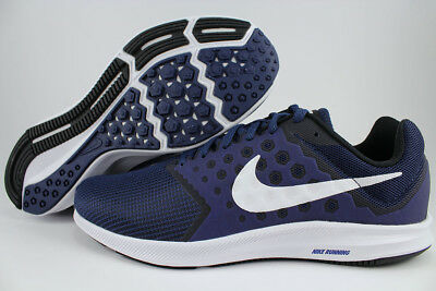 65122163d6a6 Nike Downshifter 7 Extra Wide 4E Eeee Navy Blue white black Running Us Men