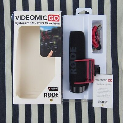 NEW Rode Videomic VidMic GO On Camera Shoe Mount Rycote Lyre Onboard Microphone