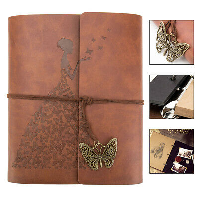 6x4 holds Photo Album Leather Scrapbook Travel Holiday Gift Vintage Albums