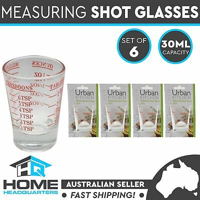 6x Shot Glasses Measuring Cup Cooking Home Kitchen Tool Baking Accessory