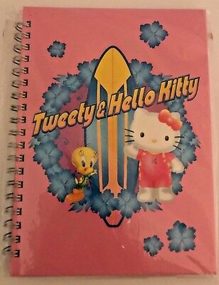Tweety & Hello Kitty small note book Pink