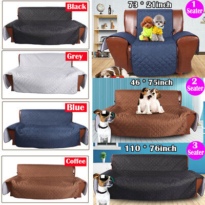 2018 New 1/2/3 Seater Couch Sofa Cover Removable Quilted Couch Pet Protector AU