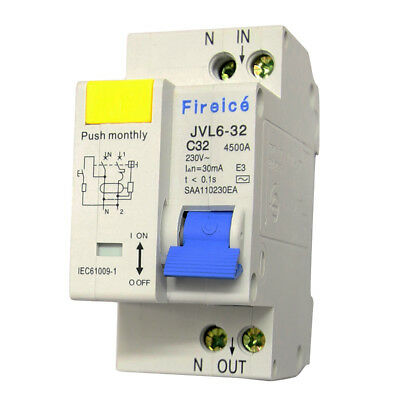 32AMP - RCBO 2 Pole 4.5kA - Safety Switch for Switchboard ! RCD/MCB Combo!