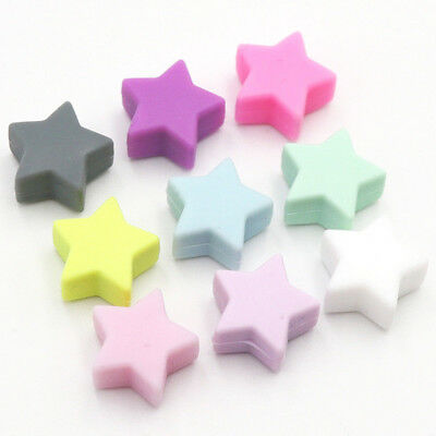 Star Silicone Teething Beads Chewable Teether DIY Baby Bracelets Jewelry Toy