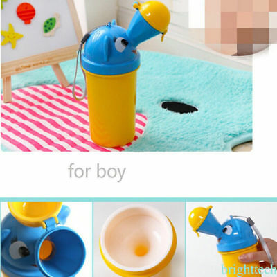 Portable Baby Toddlers Potty Training Urinal Pee Pot Toilet Car Travel Pee