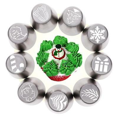 1Pc Christmas Tree Icing Russian Piping Tip Nozzle Cupcake Pastry Set Useful AU
