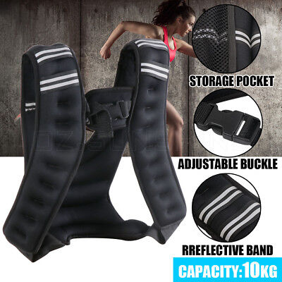 10KG Adjustable Workout Weight Weighted Vest Gym Crossfit Training MMA Running