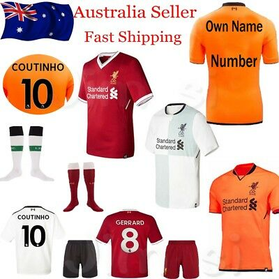 Football Soccer Shirt Jersey Short Kids Kid Boy Kits 2017 2018 Home Away 3-14Y