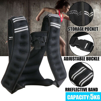 5KG Adjustable Workout Weight Weighted Vest Gym Crossfit Training MMA Running