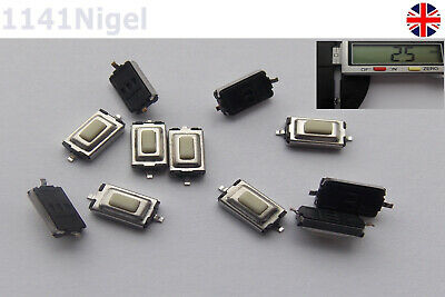 3.5 X 6 X 2.5mm Tactile Push Button Switch Tact Switch Micro Switch 2-Pin SMD UK