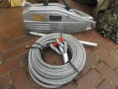 TIRFOR TU-32 AND 20 METER OF ROPE Tractel winch