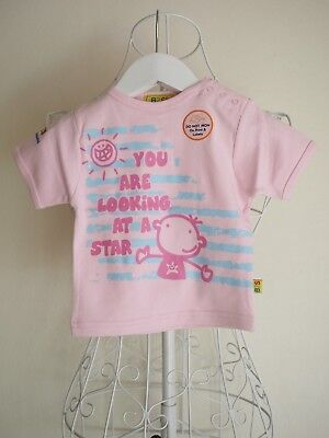 """""""Born to Succeed"""" Size 000 Girls Pink T-Shirt w/ 'Looking at a Star' Slogan BNWT"""