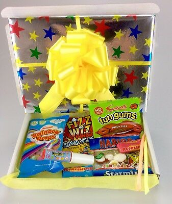 Retro Mix Sweets GIFT Sweet Hamper Candy Present Birthday Thank Fathers Get Well